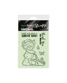 For the Love of Stamps - Teddy Loves... Gardening