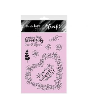 For the Love of Stamps - From the Heart A6 Stamp Set
