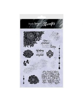 For the Love of Stamps A5 Stamp Set - Beautifully Distressed