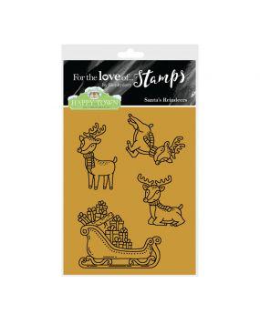 Happy Town Stamp Set - Santa's Reindeers