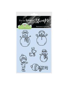 Happy Town Stamp Set - Snowmen & Friends