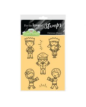 Happy Town Stamp Set - Christmas Dinner