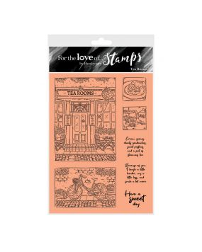 For the Love of Stamps - Tea Rooms A6 Stamp Set