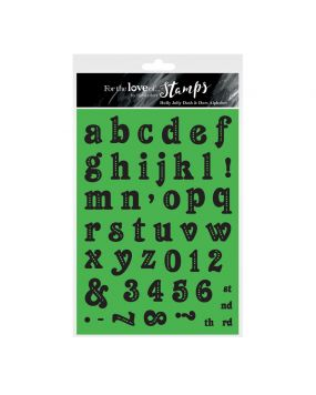 For the Love of Stamps - Holly Jolly Dash & Dots Alphabet