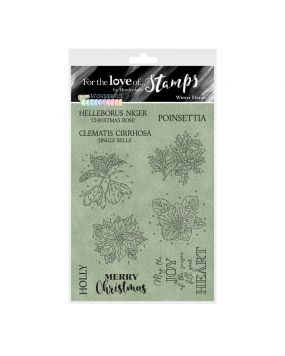 For the Love of Stamps - Winter Florals A6 Stamp Set