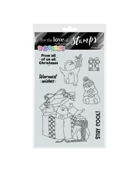 For the Love of Stamps - Snippables Christmas Cheers - Penguins