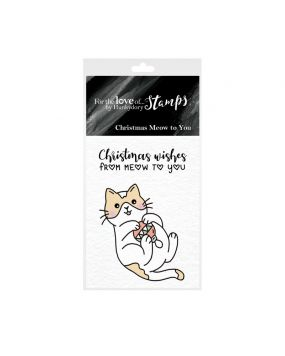 For the Love of Stamps - Christmas Meow to You