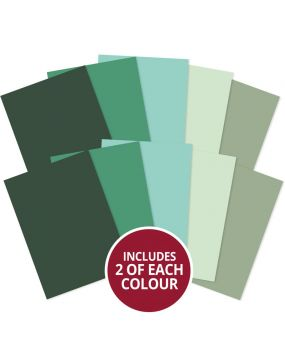 Matt-tastic Adorable Scorable A4 Cardstock x 10 sheets - Greens