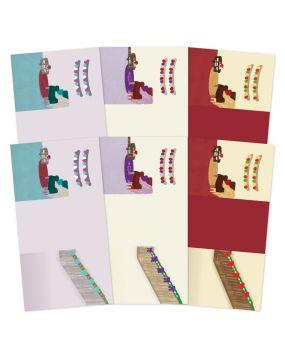 Festive Moments - Set the Scene Z-Fold Card Blanks - Deck the Halls