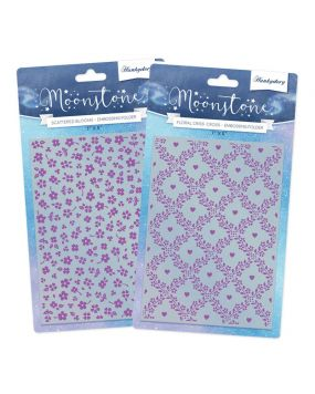Moonstone Embossing Folders - Springtime Wishes Multibuy