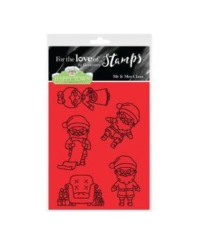 Happy Town Stamp Set - Mr & Mrs Claus