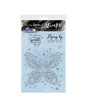 For the Love of Stamps - Gemstone Butterfly Sparkle