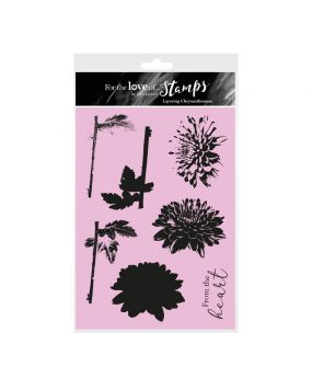 For the Love of Stamps - Layering Chrysanthemum A5 Stamp Set