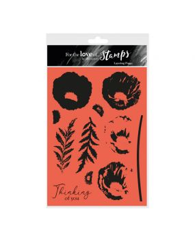 For the Love of Stamps - Layering Poppy A5 Stamp Set