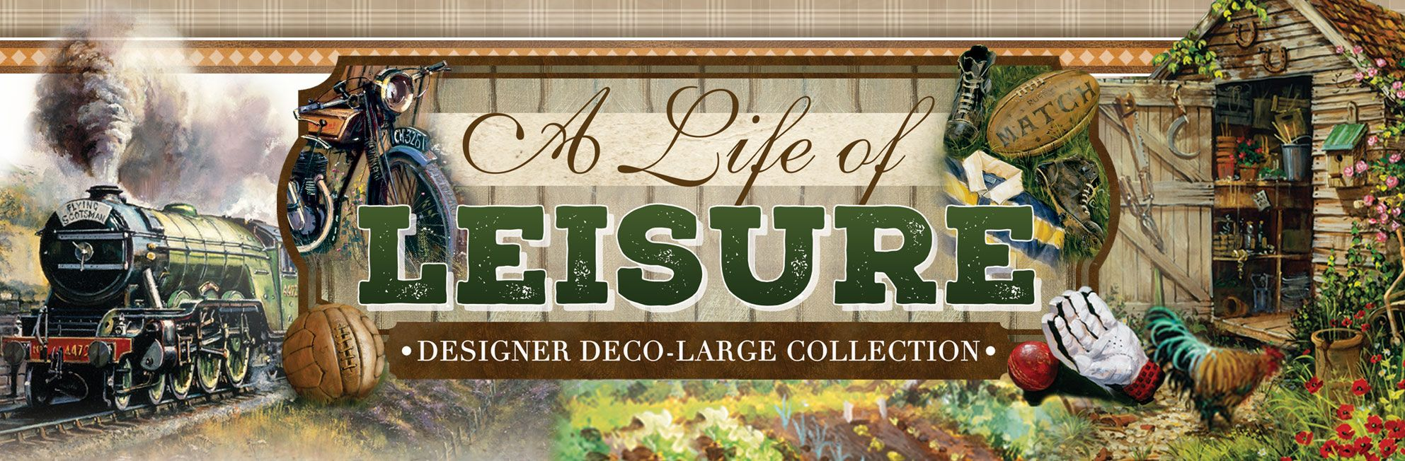 A Life of Leisure Deco-Large