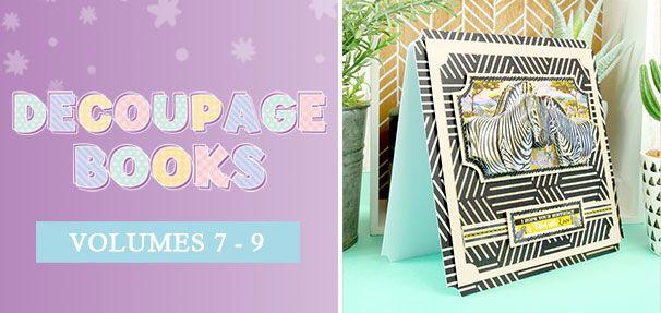 Hunkydory Crafts Libro de decoupage con dise/ño de p/ájaros