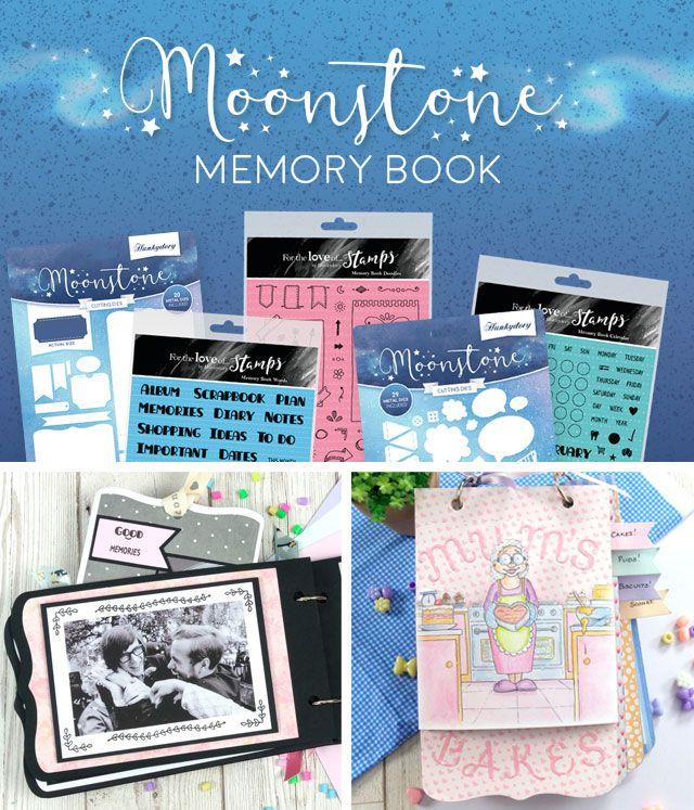 Moonstone Memory Book Dies & Stamps
