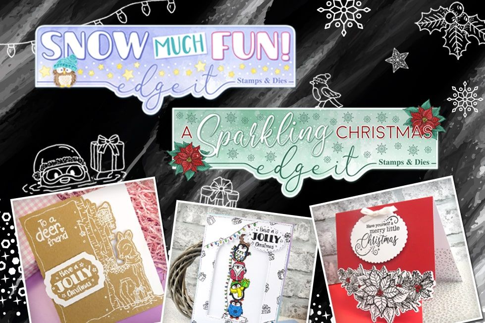 Hunkydory The Magic of Christmas Snow Much Love 3-pc Topper Collection